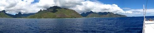 Baie de Cook et baie d'Opunohu