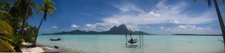 Vue panoramique sur Bora Bora