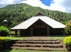 Magnifique église en bois de Taipivai