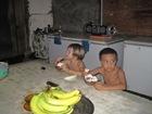 c'est leur du gouter, noix de coco rapé banane