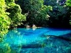 résurgence d'eau douce, le trou bleu