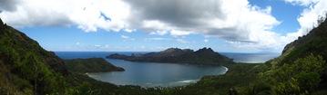 panoramique sur la baie d'Anaho