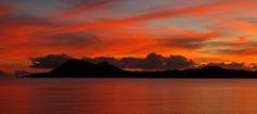 coucher de soleil sur Rikitea